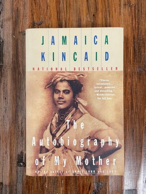 The cover of Jamaica Kincaid's The Autobiography of My Mother