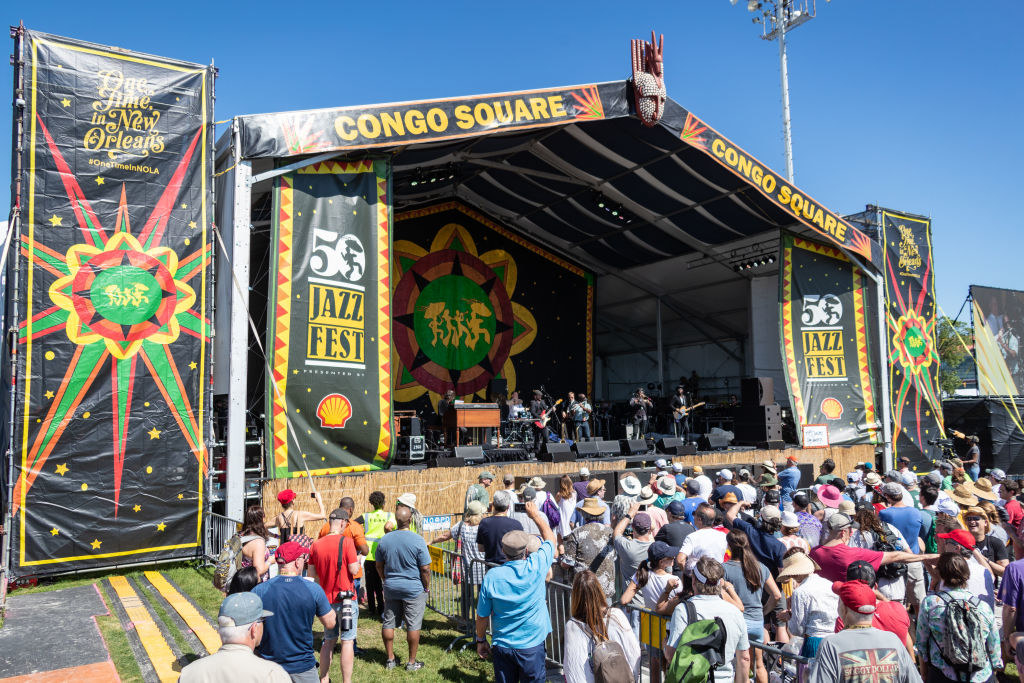 Tiny Universe performs on the Congo Square Stage