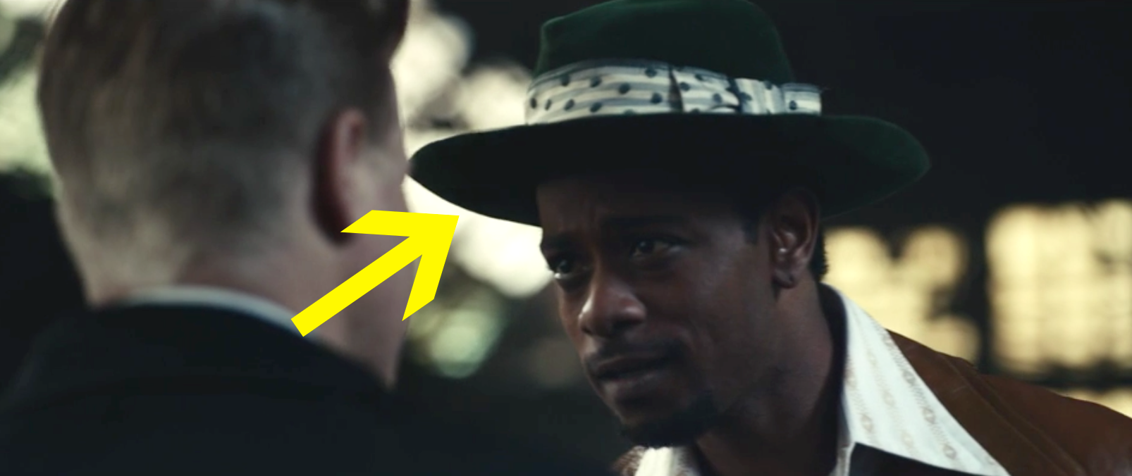 William O'Neal wearing a green fedora