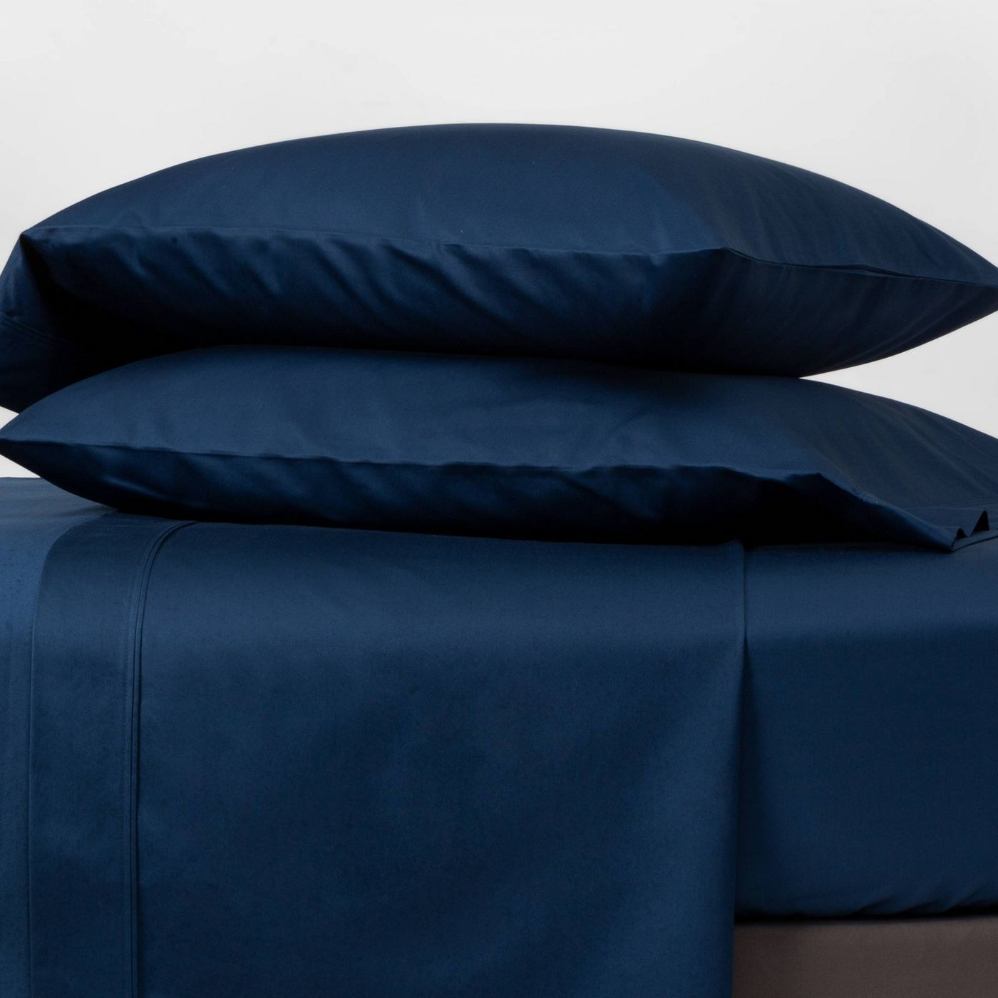The sheets, in Indigo