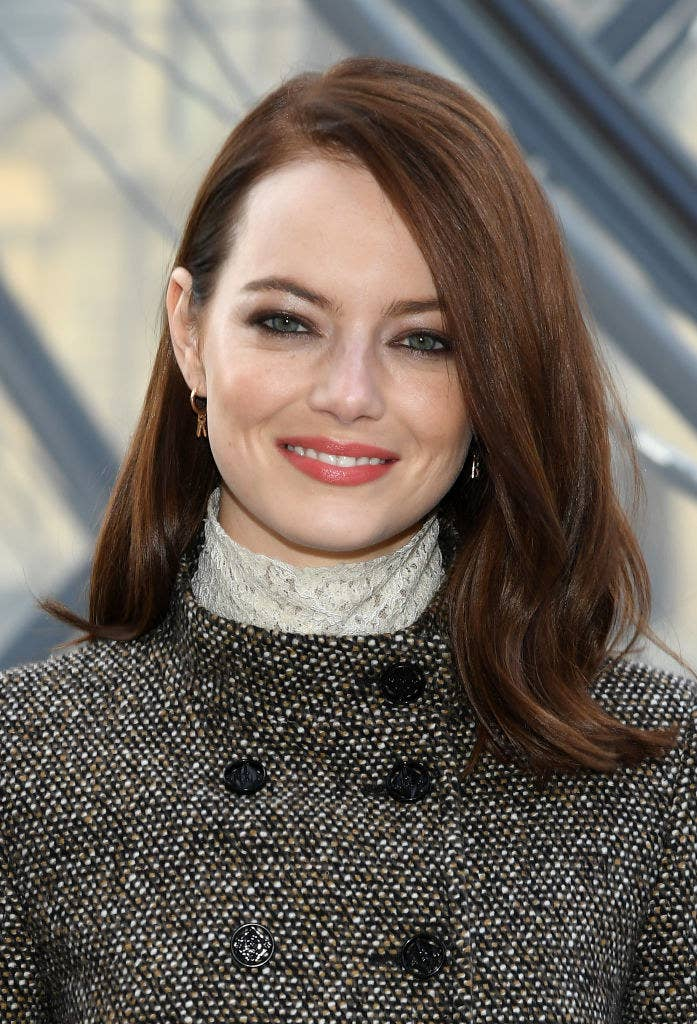 Emma Stone at the Louis Vuitton show as part of the Paris Fashion Week in March 2019