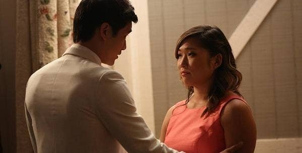 """Mike and Tina from """"Glee"""" talking about getting back together but deciding they need to go their separate ways."""