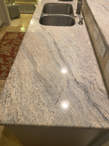 Reviewer photo of cleaned kitchen counter