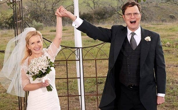 Dwight and Angela get married