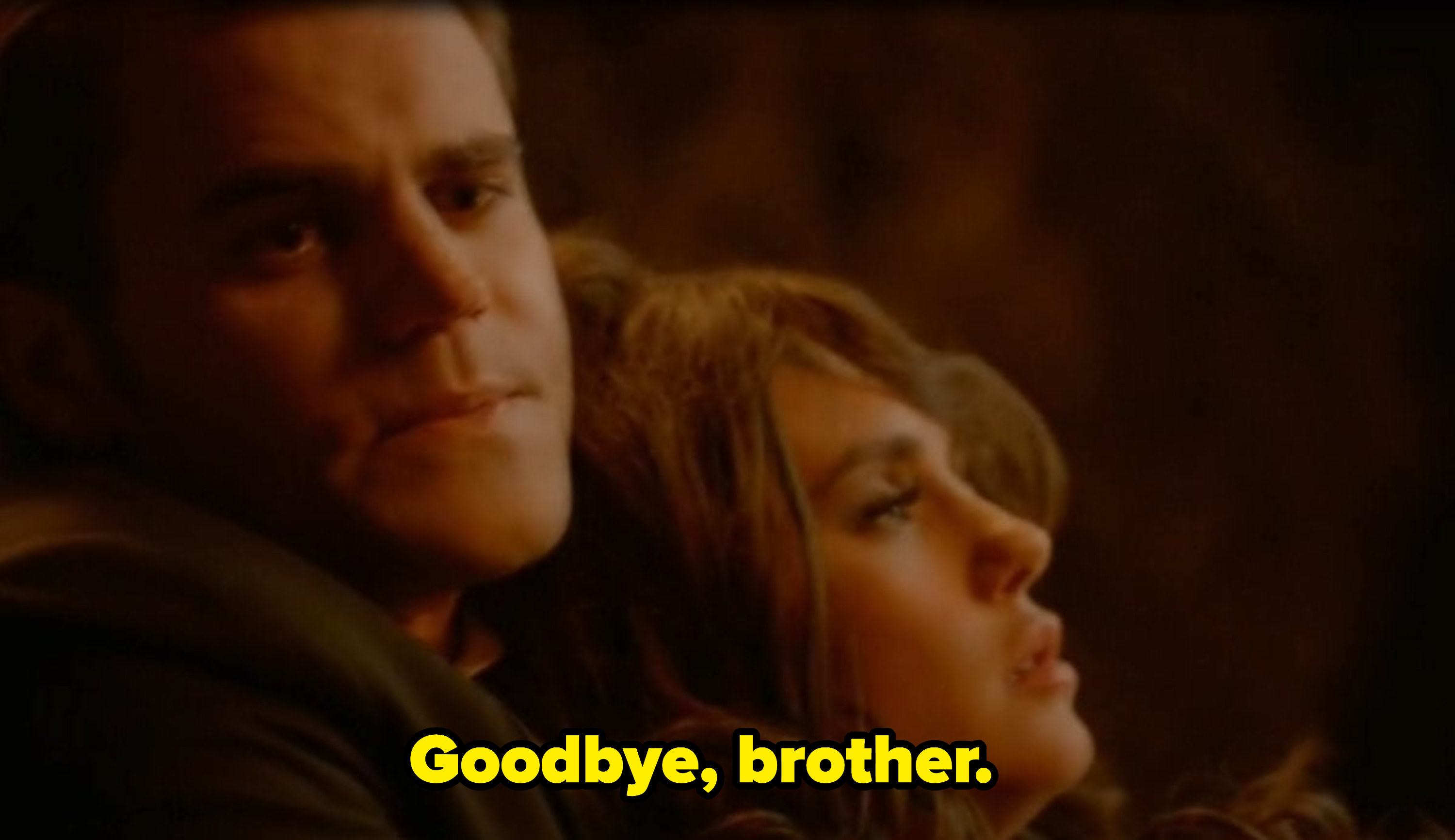 Stefan and Elena in The Vampire Diaries