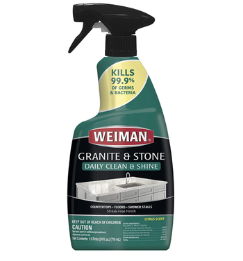 Bottle of Weiman granite and stone cleaner