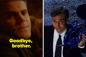 The Vampire Diaries' Stefan saying goodbye to Damon before dying and How I Met Your Mother's Ted showing up at Robin's house after his wife died
