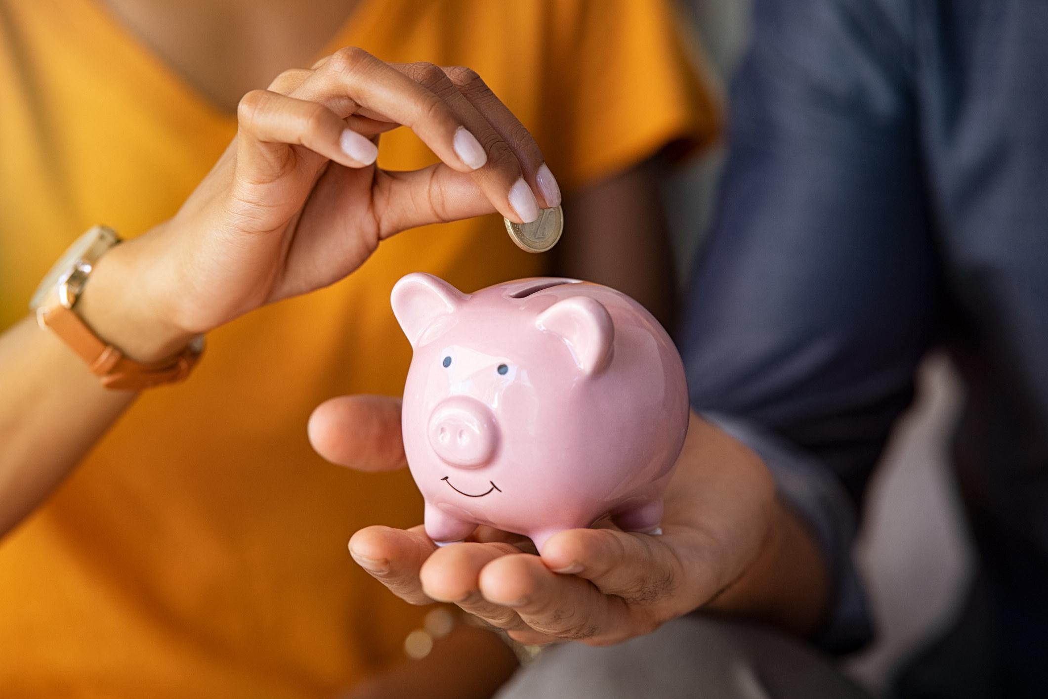 Money in a piggy bank