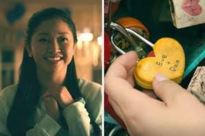 lara jean and the lock that says eve and dan