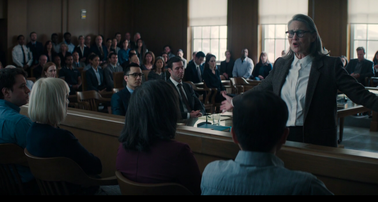 """Jacob's attorney talking to the jury during opening statement on """"Defending Jacob"""""""