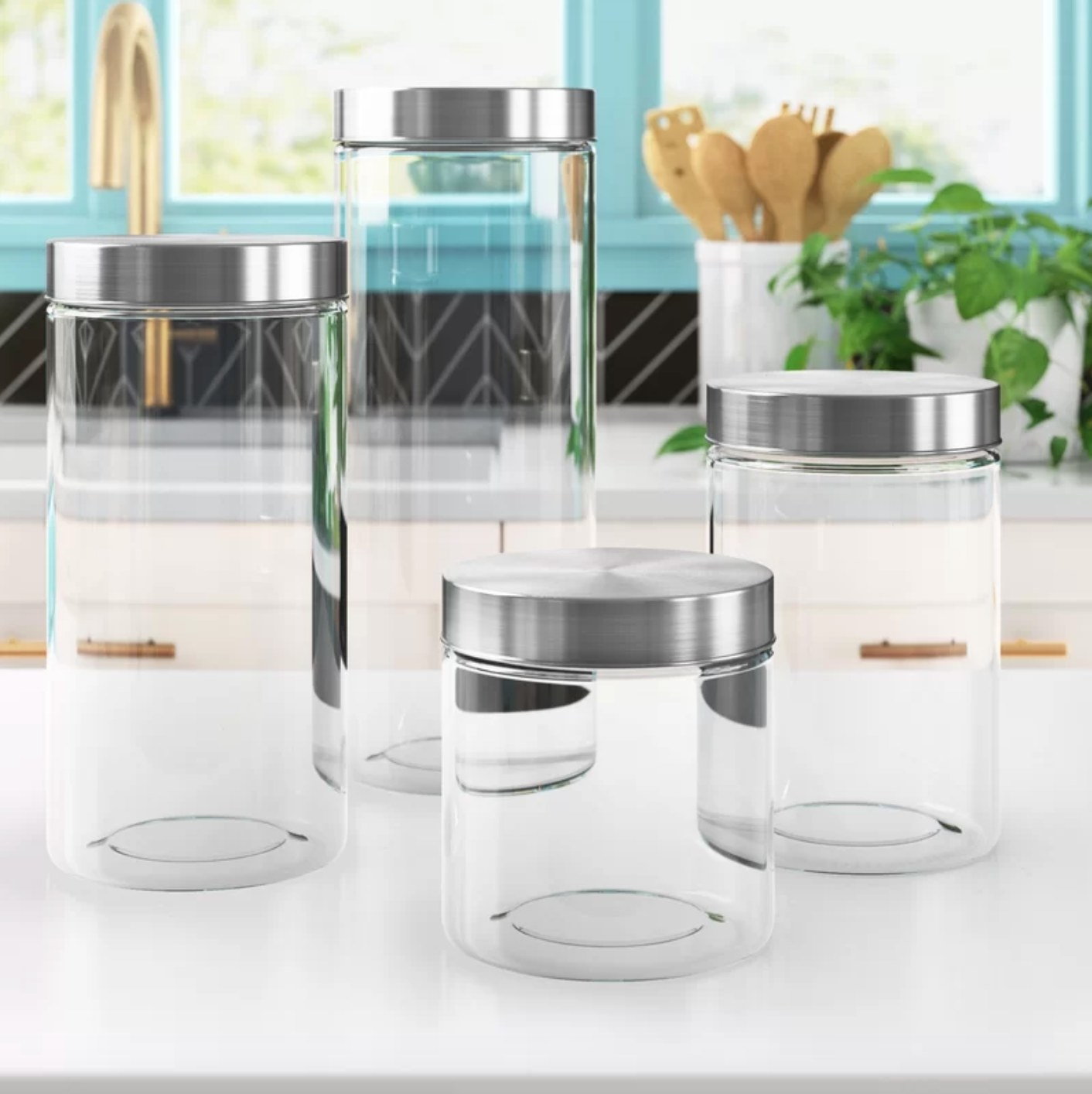 The glass canister set