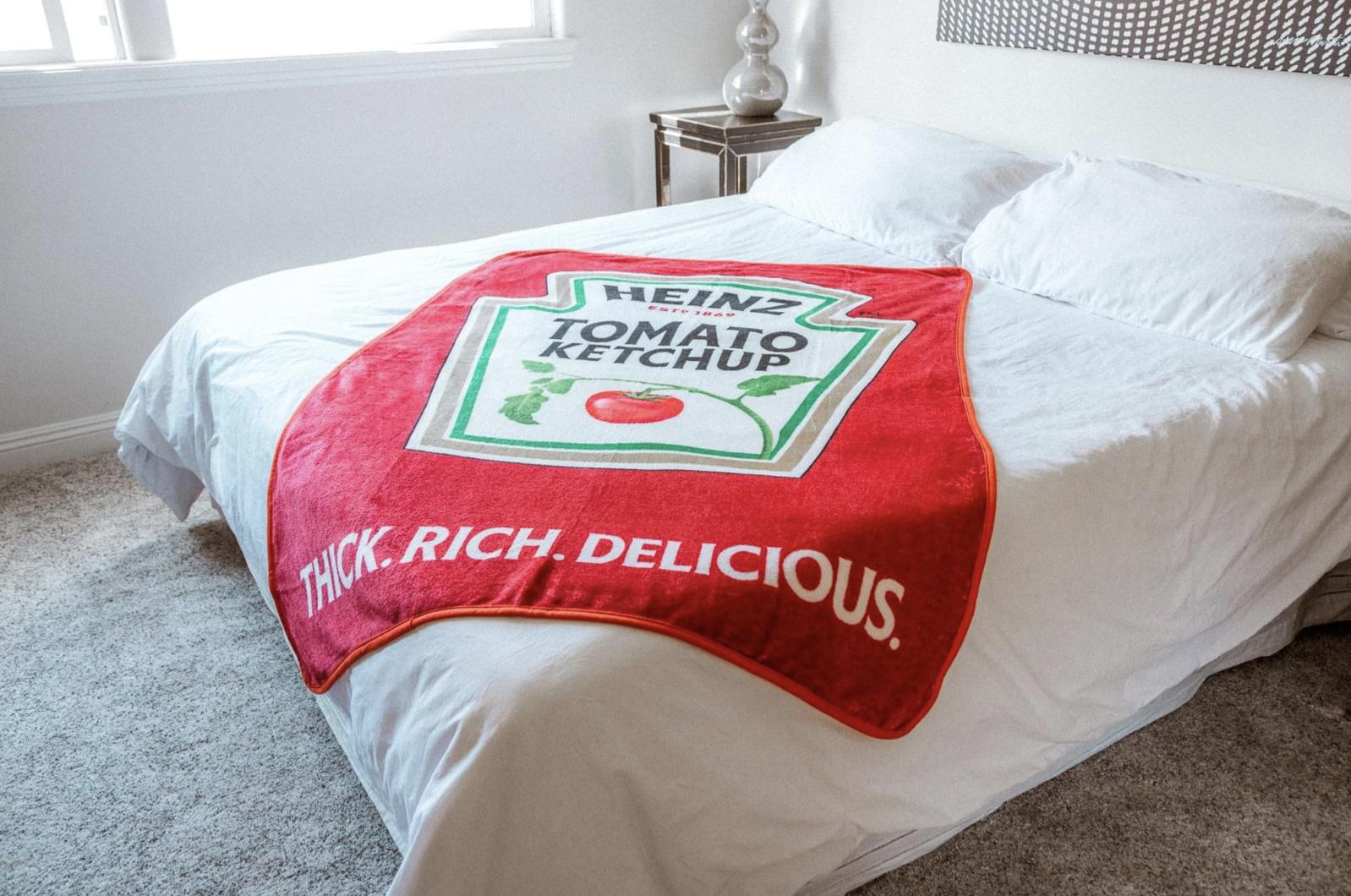 heinz ketchup throw blanket