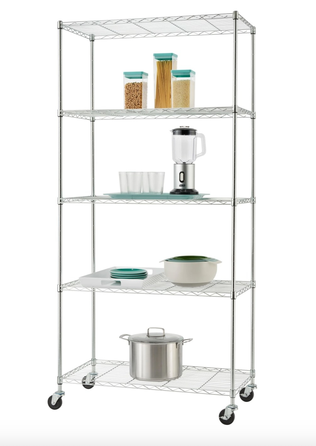 The five-tier wire rack