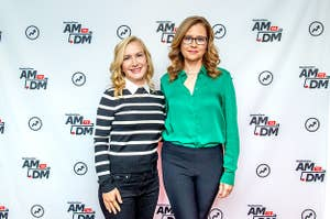 Angela Kinsey and Jenna Fischer on BuzzFeed's AM To DM