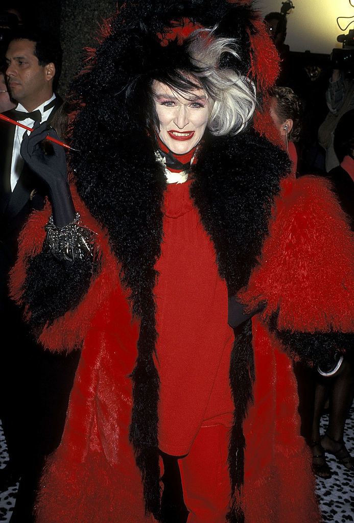 "Glenn Close at the ""101 Dalmatians"" New York City Premiere in November1996"