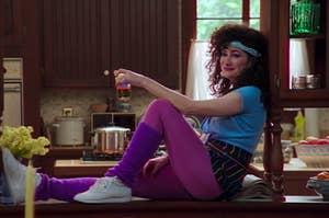 "Kathryn Hahn as Agnes in the show ""WandaVision."""