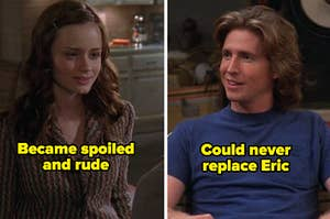 """Rory form """"Gilmore Girls"""" labeled """"became spoiled and rude"""" alongside Randy from """"That '70s Show"""" labeled """"could never replace Eric"""""""