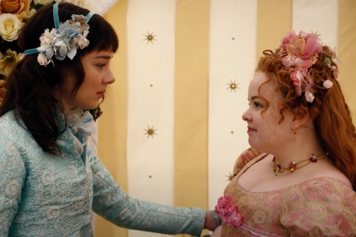 "Eloise and Penelope on ""Bridgerton"""