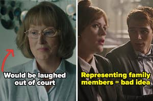 """Mary Louise from """"Big Little Lies"""" labeled """"would be laughed out of court"""" alongside Archie and his mom on """"Riverdale"""" labeled """"representing family members = bad idea"""""""