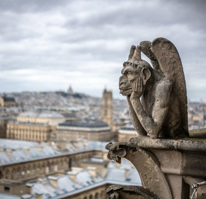 Gargoyles atop Notre-Dame Cathedral
