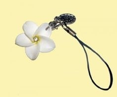 Small frangipani attached to a thick thread