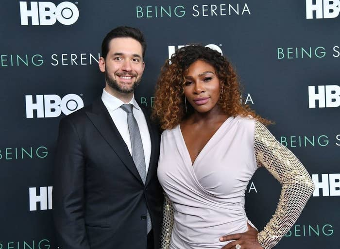 Co-Founder of Reddit Alexis Ohanian and Serena Williams attend the HBO New York Premiere of 'Being Serena'