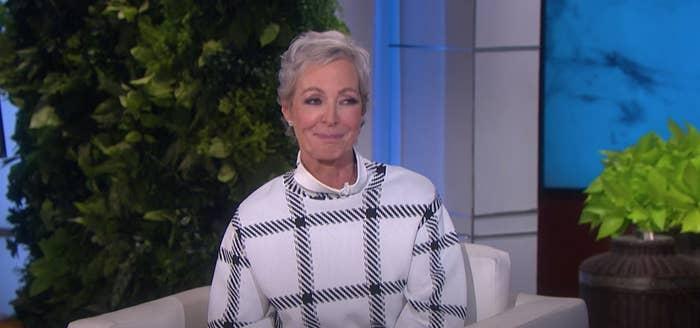 Allison Janney with short hair on Ellen