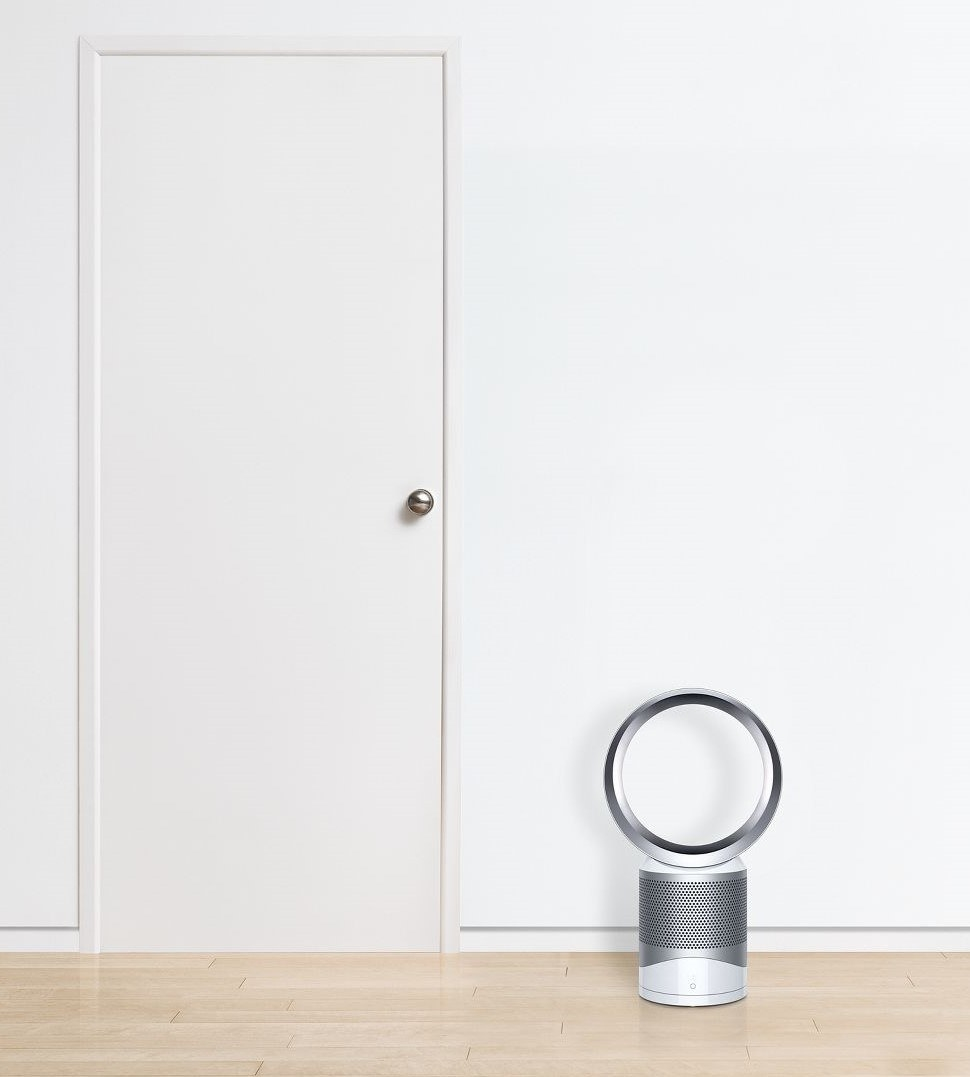 The air purifier next to a door