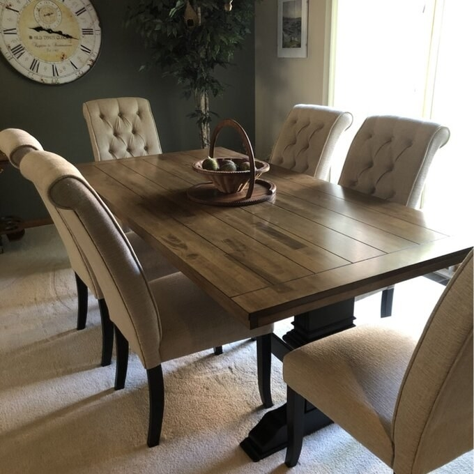 Review photo of the antique black dining table
