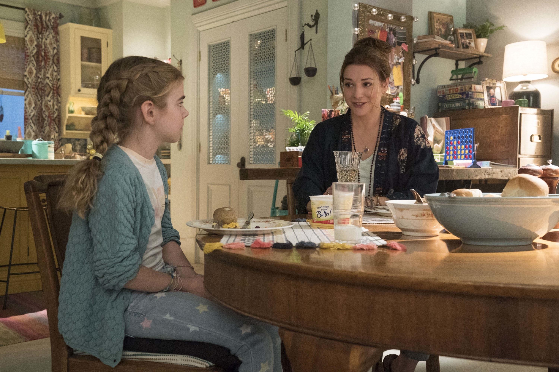 "Alyson Hannigan and Matilda Lawler in ""Flora & Ulysses"""