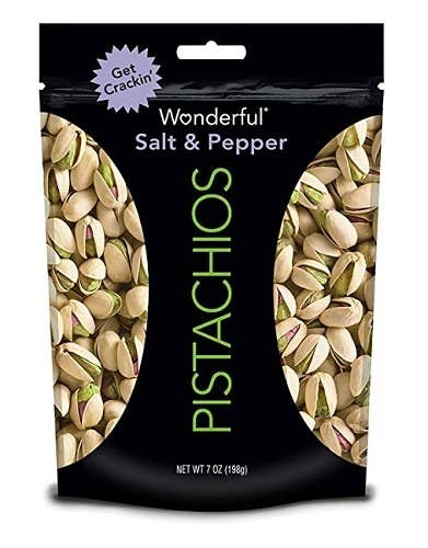 Pistachios are chock-full of unsaturated fats and fiber, for a trio of nutrients to help keep you fuller for longer.