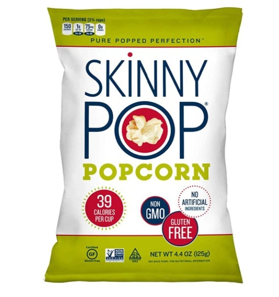This guiltless, preservative-free popcorn contains 39 calories per cup.