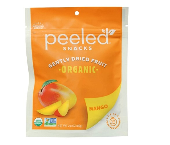 This peeled fruit snack provides 2 grams of fiber and contains 130 calories.