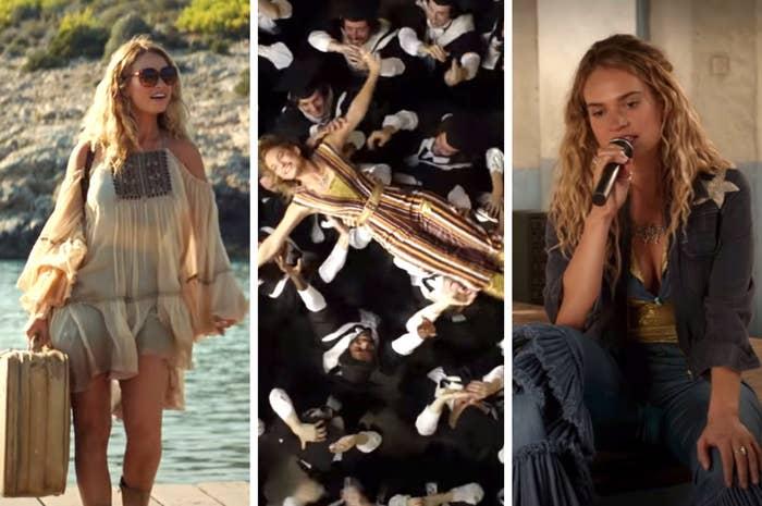 "Three looks from ""Mamma Mia Here We Go Again"""