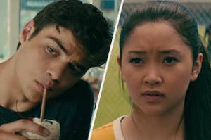 Peter Kavinsky and Lara Jean in To All The Boys I've Loved Before