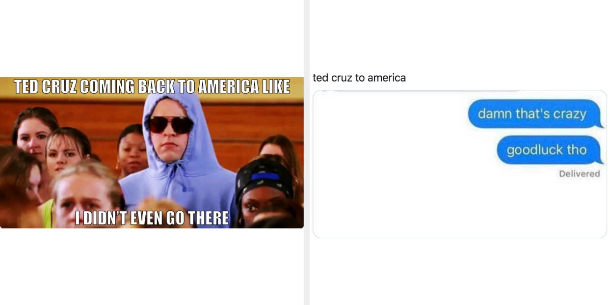 Best Tweets On Ted Cruz Going To Cancun