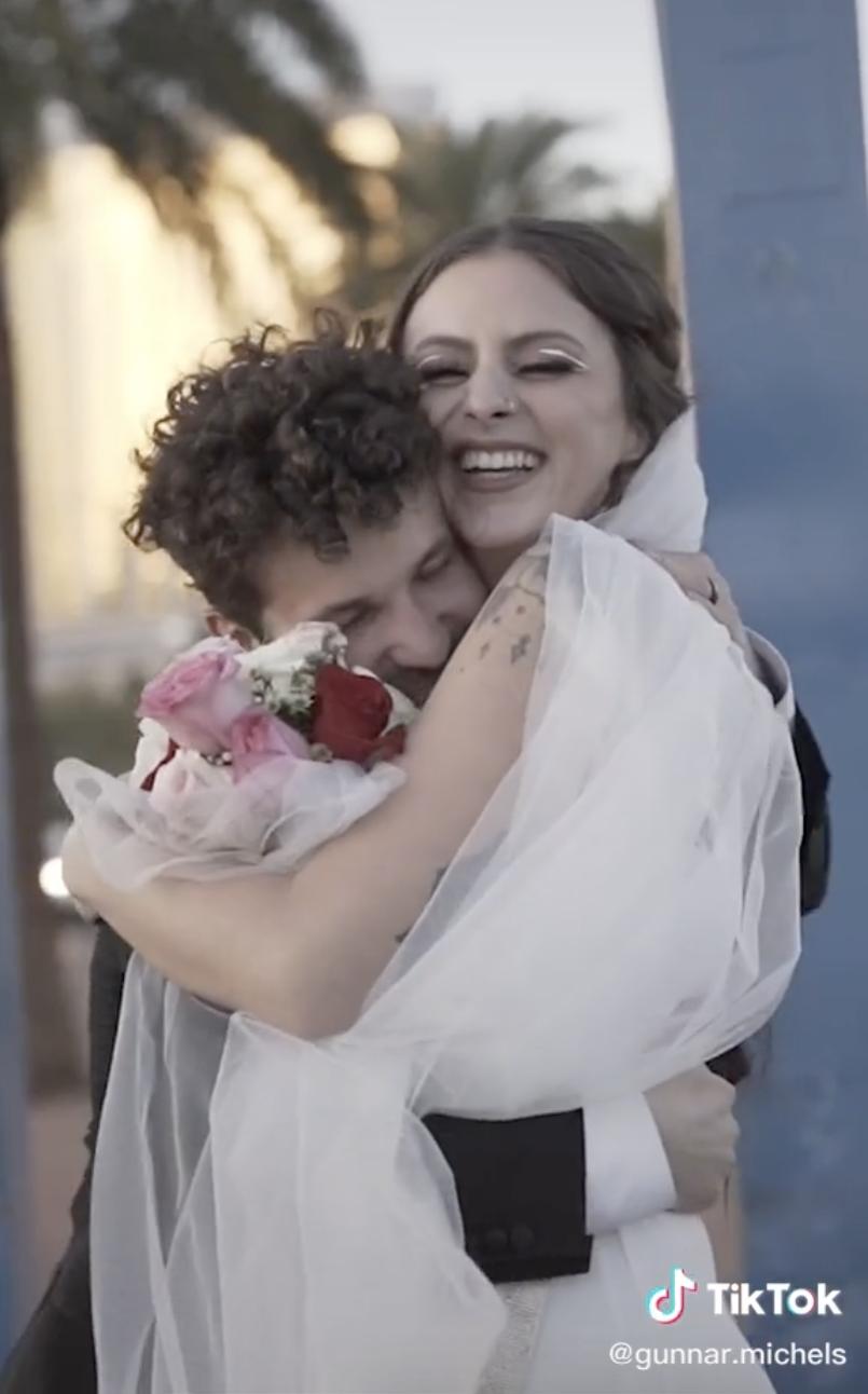 Gunnar and Danielle hugging