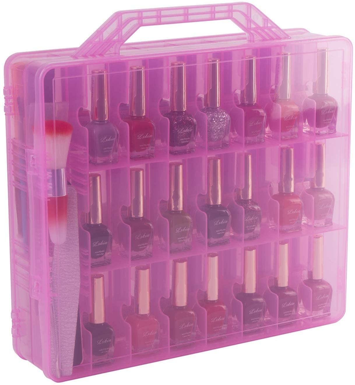 The transparent nail polish case