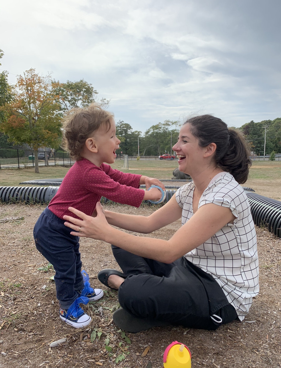 Loryn and Dalia at playground