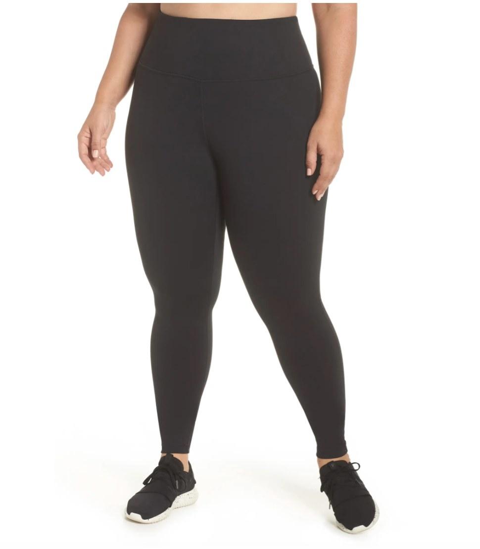 The high waisted leggings in black