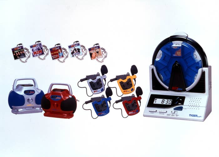A product shot of various HitClips players