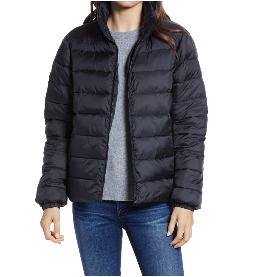 The Nordstrom puffer in black