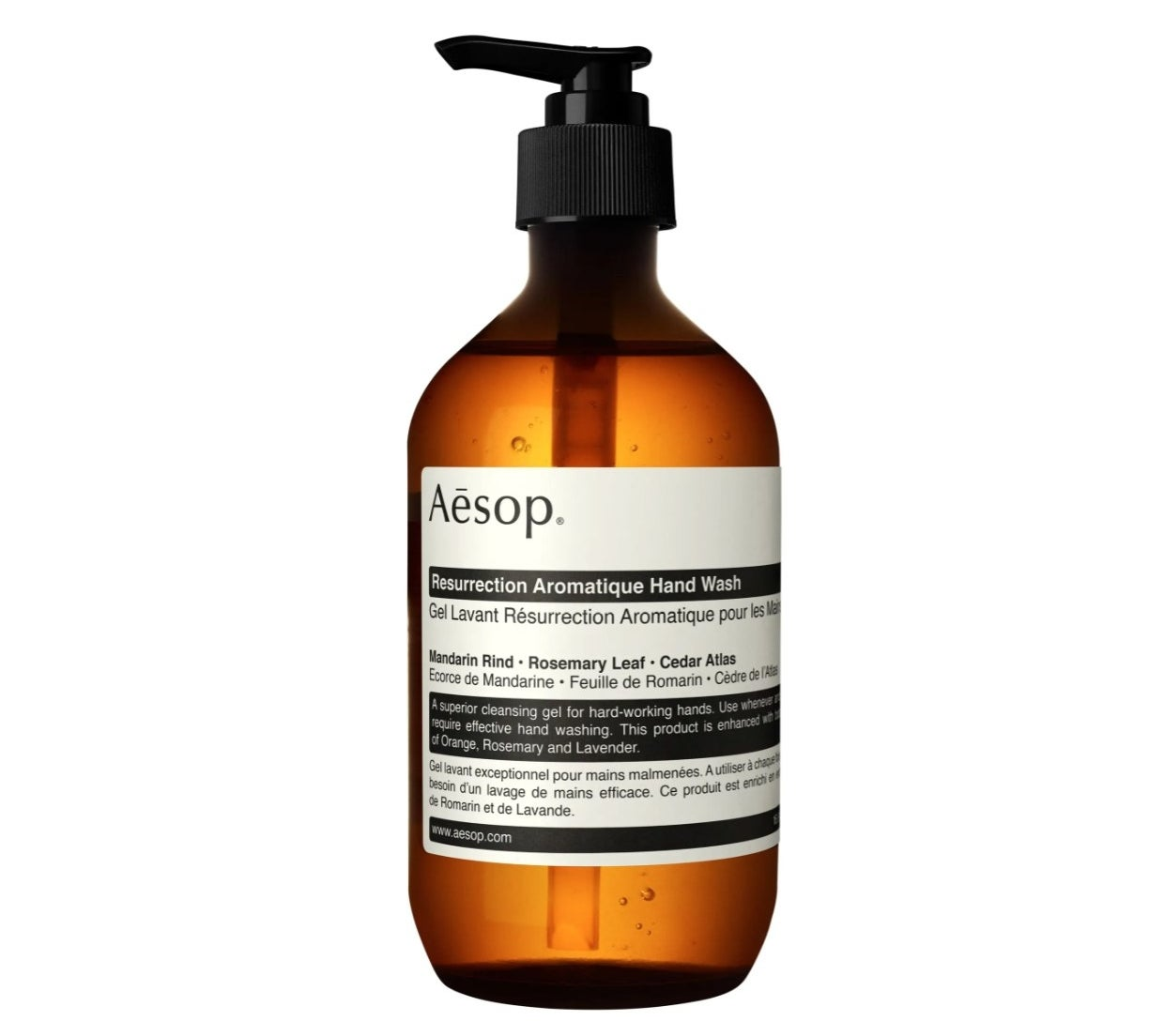 The Aesop hand soap with a pump