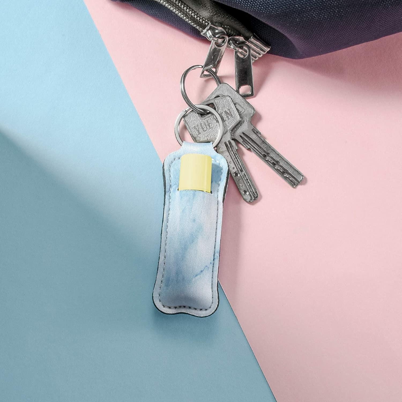 Chapstick holder keychain on keys