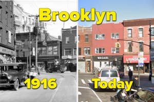 Brooklyn in 1916 side-by-side with it today