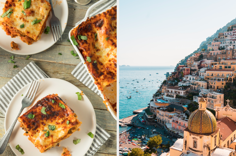 Lasagna and Amalfi Coast