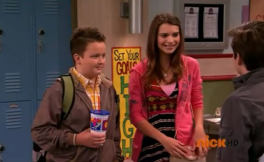 Gibby stands next to his girlfriend, Tasha, at school