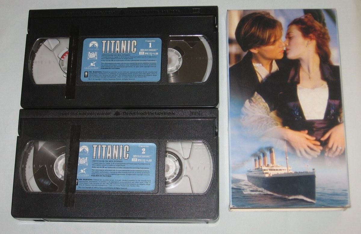 The double VHS tapes for Titanic
