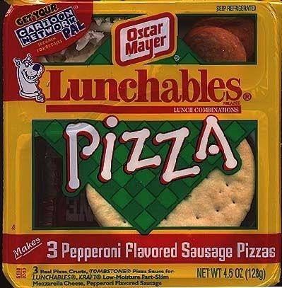 A pizza flavored Lunchables