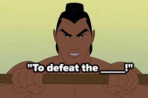 to defeat the blank li shang mulan